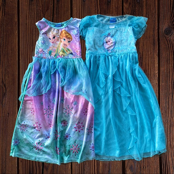 🖍🚨🆑 Frozen Nightgown Dresses Elsa/Anna